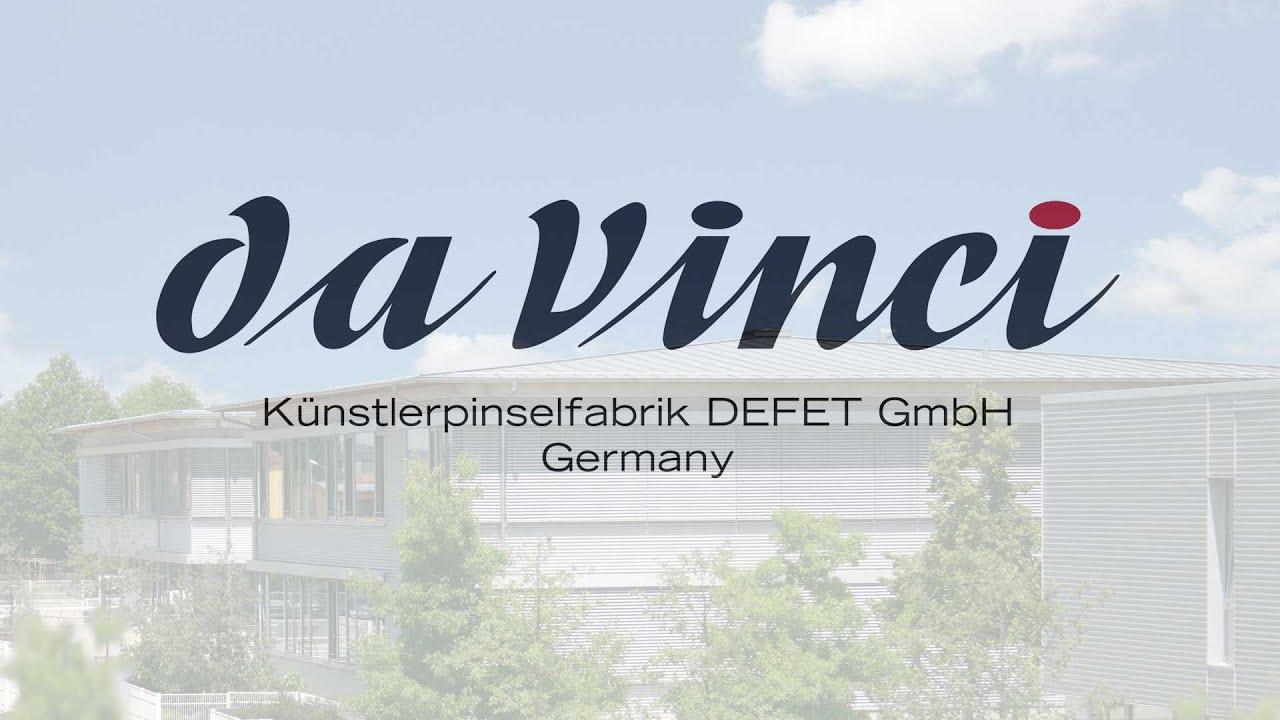 Кисть синтетика овальная Da Vinci 375 Fit For School &Hobby короткая ручка видео
