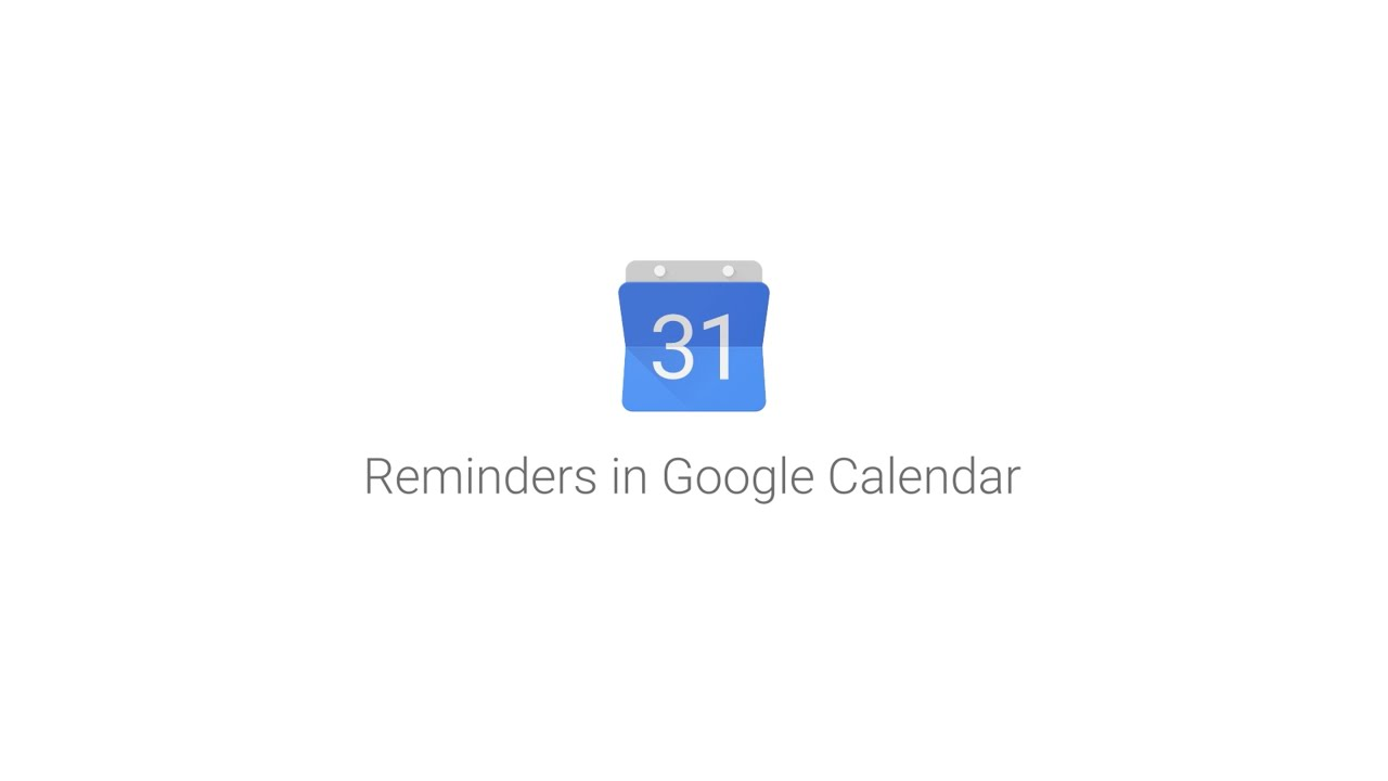 Reminders in Google Calendar