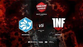 Infamous vs Braxstone, DreamLeague Minor Qualifiers SA, bo3, game 1 [Lum1sit]