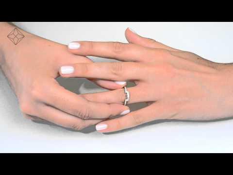 DN3248 -  2Ring Diamond Bridal Ring Set With 1ct Diamonds