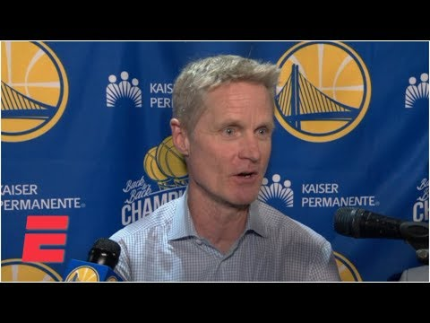 Video: Steve Kerr calls Klay Thompson's' night 'spectacular' and Curry's slip 'embarrassing' | NBA Sound