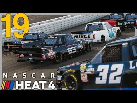 BONEHEADS OUT AT IOWA | NASCAR Heat 4 Career Mode Ep. 19 | Truck Season Race 10-11/23