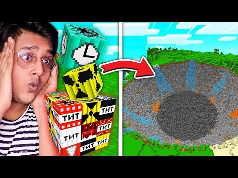 Biggest TNT Explosions in MINECRAFT !!