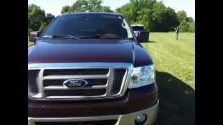 sold.2008 FORD F-150 SUPER CREW 4X4 KINGRANCH MAHOGANY IN COLOR  CALL 888-439-8045