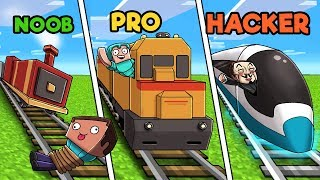 Video Minecraft - NOOB vs PRO vs HACKER - TRAIN STATION! MP3, 3GP, MP4, WEBM, AVI, FLV Juni 2019