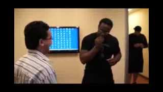 Gerald McCoy of the NFL getting fitted for the BATTLEGUARD