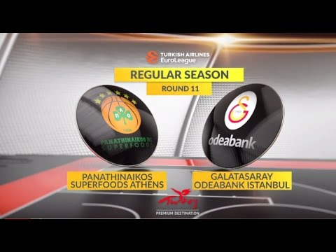 EuroLeague Highlights RS Round 11: Panathinaikos Superfoods Athens 85-58 Galatasaray Odeabank Istanbul