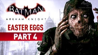 Batman: Arkham Knight Easter Eggs, Secrets and References - Part 4Batman Arkham Easter Eggs Playlist:https://www.youtube.com/playlist?list=PLJms5sWamFOUWtPTztRuqmNtcd1kaoukB===================================0:00 - Easter Egg #50: Have We Met Before?0:28 - Easter Egg #51: Batman Street Art0:49 - Easter Egg #52: Arkham Legacy1:33 - Easter Egg #53: Batgirl: Year One2:37 - Easter Egg #54: The Cult3:08 - Easter Egg #55: Comic Writers4:02 - Easter Egg #56: Family Tragedies5:12 - Easter Egg #57: Comic Book Trophies5:51 - Easter Egg #58: Sefton Hill6:53 - Easter Egg #59: Rocksteady Team10:07 - Easter Egg #60: Nolan North10:29 - Easter Egg #61: Buy Me a Beer11:07 - Easter Egg #62: Batman '6612:37 - Easter Egg #63: Shakespeare's Bust13:19 - Easter Egg #64: Batman '8914:20 - Easter Egg #65: Does it Come in Black?14:53 - Easter Egg #66: The Codex15:14 - Easter Egg #67: Do You Bleed?15:45 - Easter Egg #68: Gothic & Classic Literature17:07 - Easter Egg #69: Alien17:42 - Easter Egg #70: Metal Gear18:11 - Easter Egg #71: Mario Kart18:47 - Easter Egg #72: Animated Series Icon19:05 - Easter Egg #73: Over the Edge19:34 - Easter Egg #74: Tyger, Tyger===================================Follow BatmanArkhamVideos on:● YouTube - http://www.youtube.com/BatmanArkhamVideos● Twitter - http://www.twitter.com/ArkhamVideos● Facebook - http://www.facebook.com/BatmanArkhamNewsFor more info and videos, visit http://www.Batman-Arkham.com and http://www.Games-Series.com