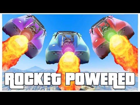 ROCKET POWERED RACES!! - GTA V FUNNY MOMENTS!! #3 (видео)