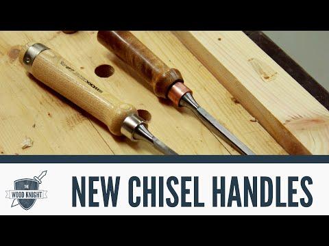 063 - New handles for Aldi chisels видео