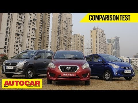 Datsun Go Vs Hyundai Eon Vs Maruti Wagon R | Comparison Test | Autocar India
