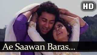 Video Ae Saawan Baras Zaraa - Lootere Song - Juhi Chawla - Sunny Deol - Lata Mangeshkar - Romantic Song MP3, 3GP, MP4, WEBM, AVI, FLV Juli 2018