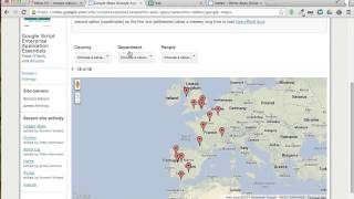 Awesome Maps is a view provided by the Awesome Table gadget. This view lets you generate a Google Map with filters...