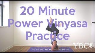 Video 20 Minute Power Vinyasa Yoga Flow MP3, 3GP, MP4, WEBM, AVI, FLV Maret 2018