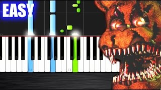 FIVE NIGHTS AT FREDDY'S 4 SONG - Break My Mind - EASY Piano Tutorial Ноты и МИДИ (MIDI) можем выслат