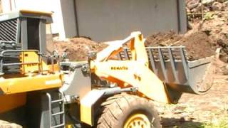 STRONG RC WHEEL LOADERWA 600-6, BIG SCALE WHEEL LOADER, HEAVY RC LOADER