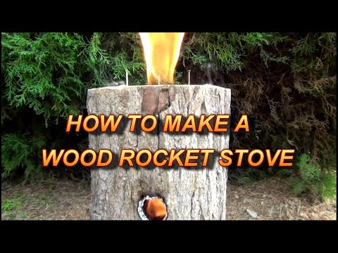 How To Make A Wood Rocket Stove - Easy & Multi-Use!