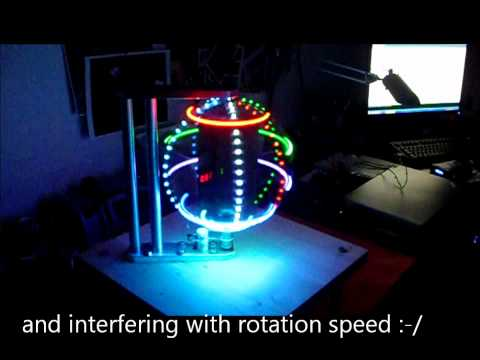 RGB LED GLOBE - POV - 40 x 200