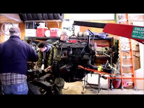 Removing A Series 2A 109 1970 Land Rover Engine.