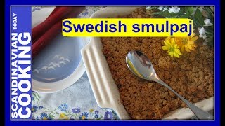 This time of the year I think about what to make for midsummer celebrations.  Midsummer celebrations is an important Nordic tradition and a lot of people look forward to attending.  We have a tradition in my family to have dinner at our house, go to the beach, build a bonfire, bake bread on a stick and sing Danish songs.  So, I decided to make a Swedish Rhubarb Crumble for dessert because you can make it for a lot of people.  As well I saw so much rhubarb in the grocery stores lately that I thought it was an easy decision to make this delicious dessert.  The great thing is people can decide how much they want to scoop out from the pan. What makes this dessert Swedish from what I understand is the flour and oatmeal combination.  Just make sure to buy the correct rolled oats and not the quick or 5 minutes oatmeal.  Otherwise the dessert won't taste correct.How to Make Swedish Rhubarb Crumble  ☀ Rabarberpaj🌸 Ingredients 🌸Rhubarb filling:6 cups of rhubarb, chopped into 3/4-inch chunks1 cup of granulated sugar 4 teaspoons cornstarch 2 teaspoons of cinnamon (for extra cinnamon flavor)Rhubarb Filling instructions:1)Put the chopped rhubarb, granulated sugar, and cornstarch in a large bowl and toss together.2)Transfer the rhubarb into a prepared buttered 8-inch ovenproof dish. 3)Spread and pack the fruit down well. Then set the pan aside.For crumble topping:1 1/3 cup light brown sugar 1 1/3 cup of all-purpose flour20 tablespoons softened unsalted butter 2 cups oats 2 teaspoon ground cinnamon Instructions:1) Preheat the oven to 375 degrees.2) Add sliced butter,  flour and light brown sugar together in a large bowl. Rub everything together with your fingertips, making sure that there are a few pea-sized lumps of butter left. 3) Mix oats, cinnamon almond slices into a medium bowl.4) Stir in the oats mixture into the large bowl and mix well. 5) Rub in the butter using your finger tips until it forms crumbs and starts to stick together.6) Crumble the mixture loosely over the rhub