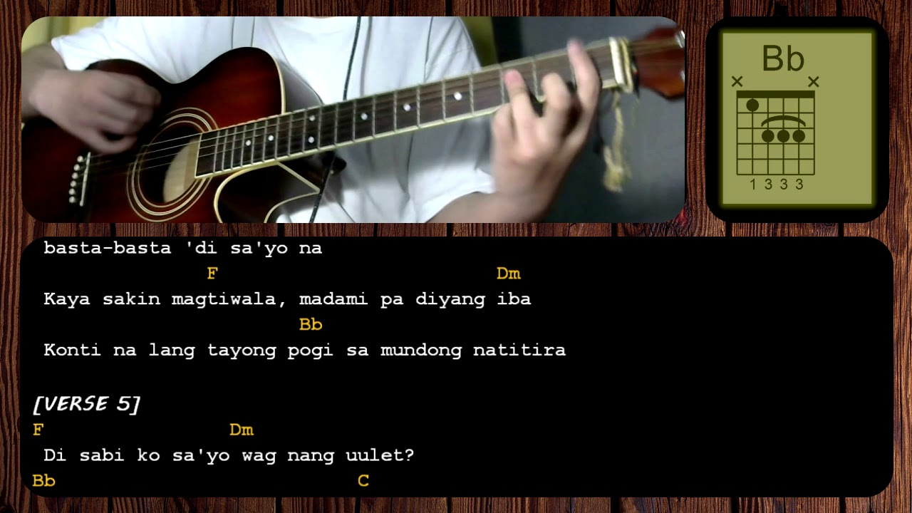 Hayaan Mo Sila by Ex Battalion – GUITAR CHORDS – TUTORIAL – ACOUSTIC