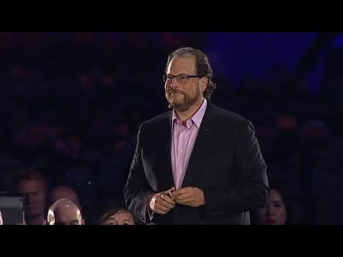 Dreamforce - Salesforce Chairman and CEO Marc Benioff welcomes a packed audience to Dreamforce 2014. He introduces Salesforce's partnership with San Francisco Unified Sch...