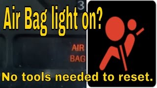 HOW TO RESET FORD MUSTANG AIRBAG LIGHT