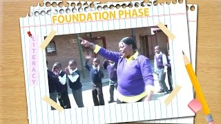 Edith Jwambi at Langaville Primary School does a song which helps us get all the learners nicely and quickly into the classroom.