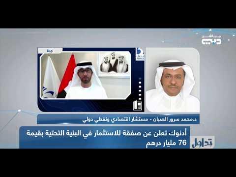 لقاء هاتفي د.محمد الصبان في برنامج تداول بدبي حول الشراكة الدولية لأدنوك الاماراتية الخاصة بالغاز