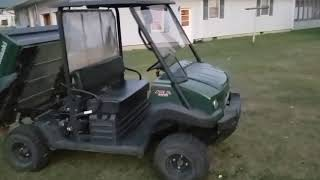6. 2012 Kawasaki mule 4010 4x4  power steering fuel injected 620 cc 174 hours