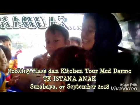 Cooking Class Dan Kitchen Tour TK ISTANA ANAK SURABAYA Di Mc Donalds Darmo | 07 September 2018