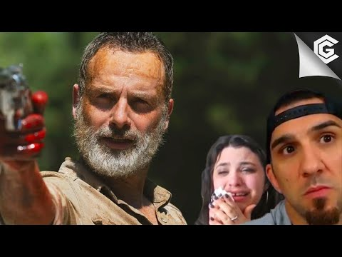 TWD Reaction Compilation: Season 9 Episode 5 - Rick Grimes 'Death' Scene and Helicopter Scene