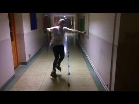freestyle slalom skating training