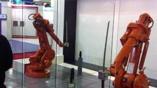 A katana fight between two ABB robots during an exhibition. Your needs...Our actions! CPM Special Bearings.
