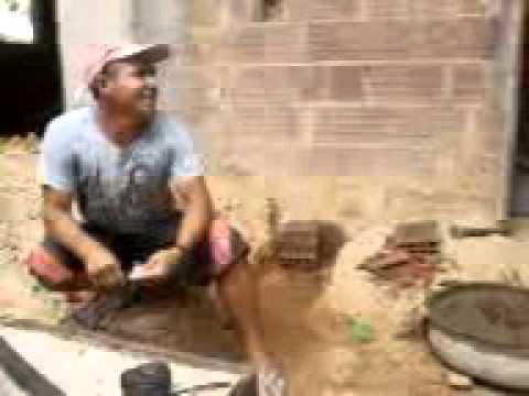 Pedreiro Pedro pontes fazendo a base de um banheiro em Damião-PB 10.01.13_10.34