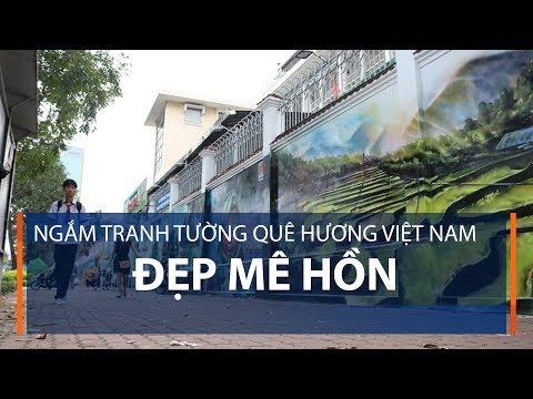 Ngắm tranh tường quê hương Việt Nam đẹp mê hồn | VTC1 - Thời lượng: 2 phút, 10 giây.