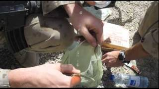 A how to instructional video on how canadian troops make coffee in afghanistan under combat conditions.
