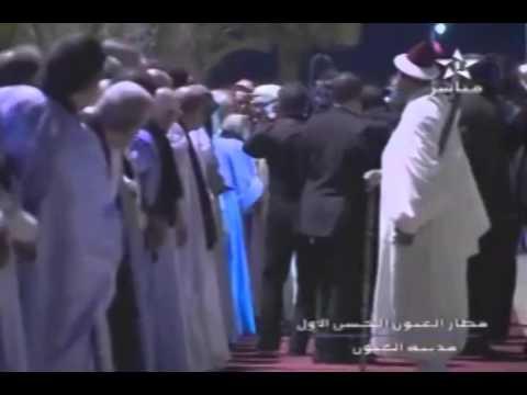 وصول جلالة الملك محمد السادس إلى مدينة العيون
