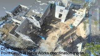 USD BINR DPR Construction 2014-12-31 Drone Point Cloud of masonry complete