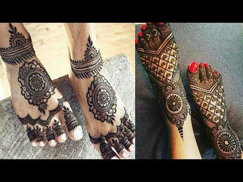 stylish mehndi design ideas feet