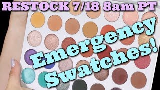 The Jaclyn Hill x Morphe palette restocks 7/18 and my full review isn't ready yet. BUT I wanted to get you SOMETHING to try to help you decide if this palette is for you or not. I'll give you brush and finger swatches and give you my impressions of these shadows from using them every day for a little over a week! I was NOT sent this product for review. It was purchased off of the Morphe website with a 10% off coupon code (just like most people).*NOTE* I'm sorry that the swatches sometimes get blurry while I'm swatching!  I was in a rush to get this to you and didn't have time to refilm. I make sure you can see the final swatches nice and clear in the end!Thank you to Kristi at RawBeautyKristi for the idea to tape the shade card to the inside of the palette! https://www.youtube.com/watch?v=jBvdaAzCm34All of these codes will get you 10% off of your order at https://www.morphebrushes.com/ I am not affiliated with Morphe and do not have a personal code.LAURALEEDUPETHATPINKPIRENEMelissaDIANAJACATTACKNicolBretmanRockPSTARRRADOPTLOVETAYLOR10jamesTRENDMOODMANNYMUAourfa10NIKKIEKRISTENDBABSBEAUTYKIMTHAIcarliMILITZA*******MUSIC: Ryan Farish - Echo https://app.hellothematic.com/#/link/9C97351D*******Thanks for subscribing to my channel (https://www.youtube.com/subscription_center?add_user=jenluvsreviews) ! I specialize in thorough makeup reviews (Monday, Wednesday, Friday) that give you WAY more than the typical YouTube review including ingredient analysis, close up finger/brush swatches, and MORE! You'll also find What's Up in Makeup (Sunday) and the Makeup Minute (Monday-Friday) giving you the most UP TO DATE information about what is happening in the beauty industry, new product releases and MORE!FTC: This is not a sponsored video. *******************Visit our AWESOME Facebook Community! https://www.facebook.com/groups/whatsupinmakeup/*******************Instagram: jenluvsreviewsPeriscope: jenluvsreviewsTwitter: http://www.twitter.com/jenluvsreviews*******************Many You