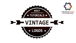 Vintage Badge Logo Design - Simple Vintage logo - Adobe illustrator Logo Design Tutorial my youtube channel : https://www.youtube.com/channel/UCnfmky_XJXqYRn...