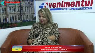 Interviul ZILEI: Invitat: Elena Motas, reprezentanta romilor in teritoriu