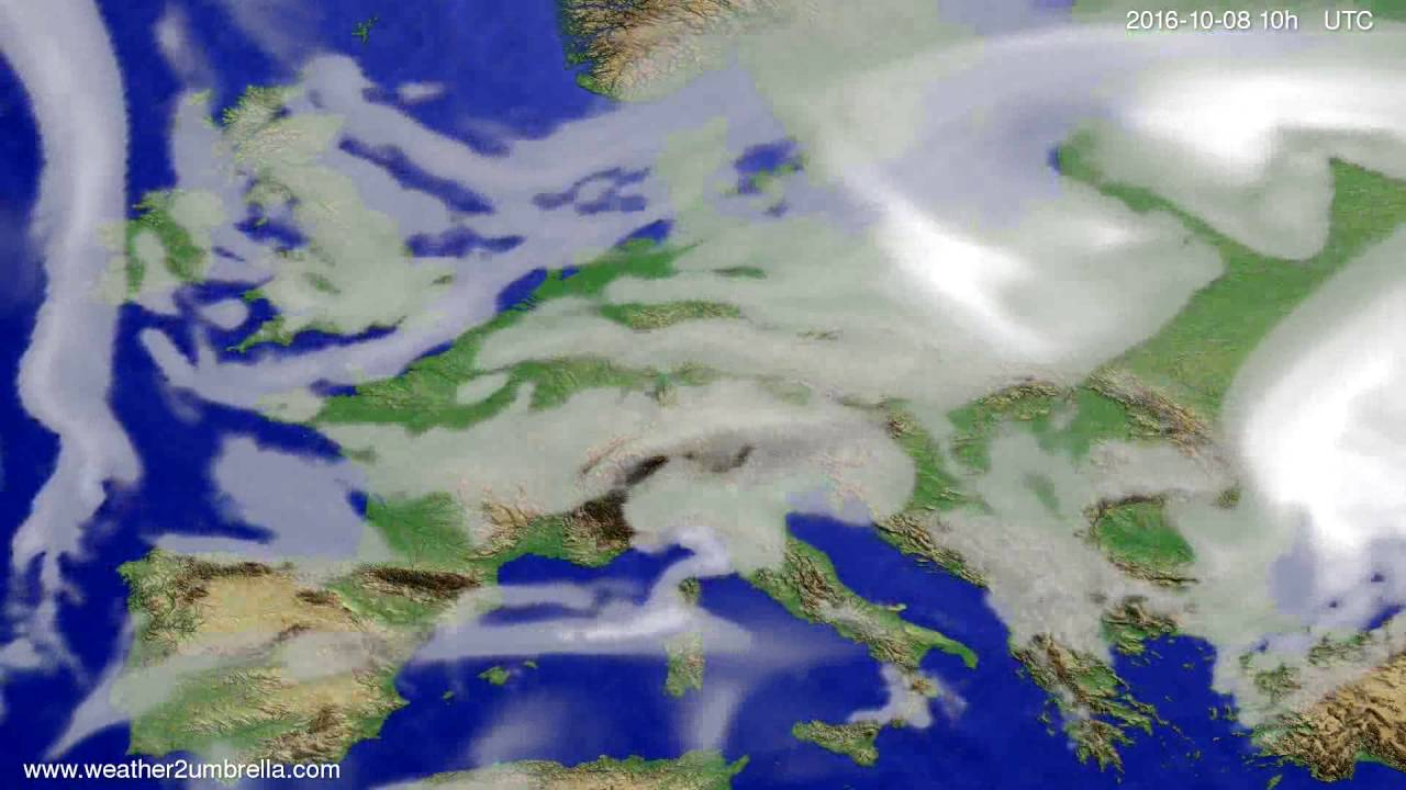 Cloud forecast Europe 2016-10-06