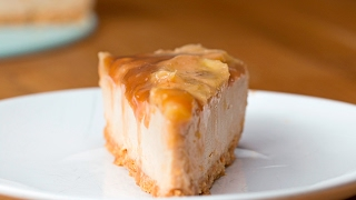 Caramelized Banana Peanut Butter Cheesecake by Tasty