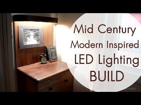Mid Century Modern Furniture w/ LED Lighting (видео)