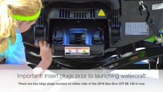 9. Inserting Plugs into 2016 Sea-Doo GTI SE 130