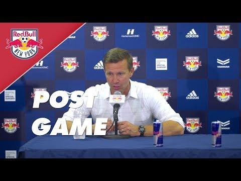 New York Red Bulls - Whitecaps Post Game Reaction I Jesse Marsch