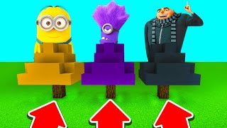 DO NOT CHOOSE THE WRONG TREE IN Minecraft PE (Minion, Evil Minion & Gru)