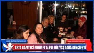 Usta Gazeteci Mehmet Alpay'a Dostlarından Doğum Günü Süprizi